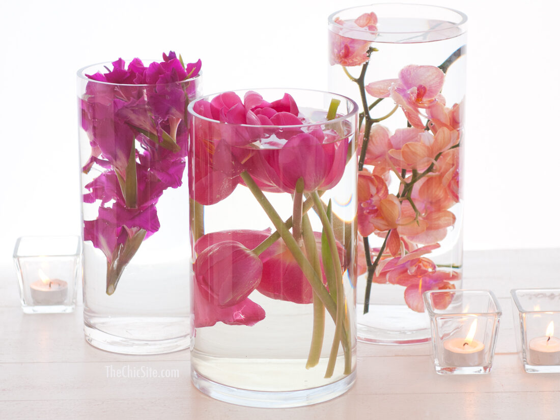 submerged flowers