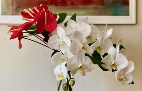 flower arrangement inspired by painting